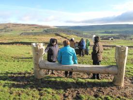 Greenwood bench at Epiacum Roman Fort