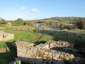 Chesters (Chollerford) view to Hadrian's Wall Tyne river crossing