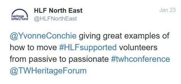 HLF passive to passionate tweet