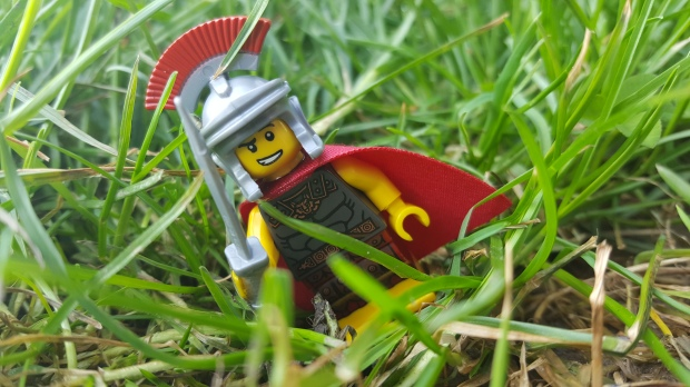 Marcus the Epiacum Minifigure - sets off to find his geocache