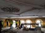 Conserving listed ceiling